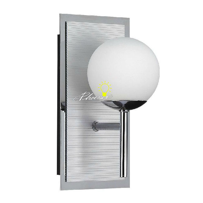 Modern Glass Ball Wall Sconce in Chrome Finish 8983