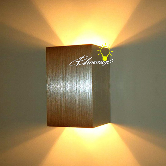 Modern Brushed Aluminium Wall Sconce  9080