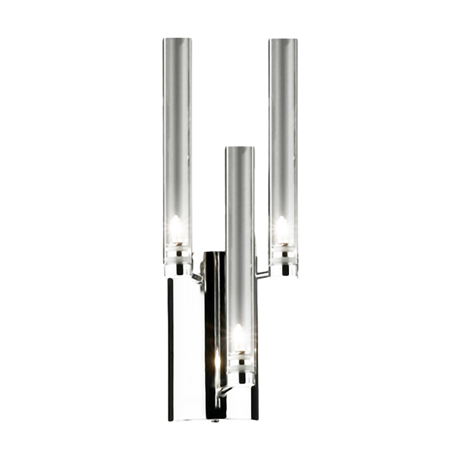 Modern Clear Glass And Chrome Wall Sconce 9083
