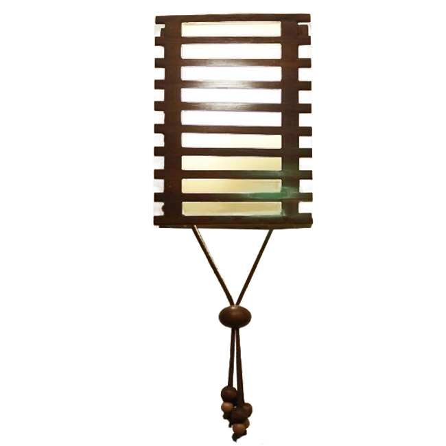 Modern Wood shade Wall Sconce 9154