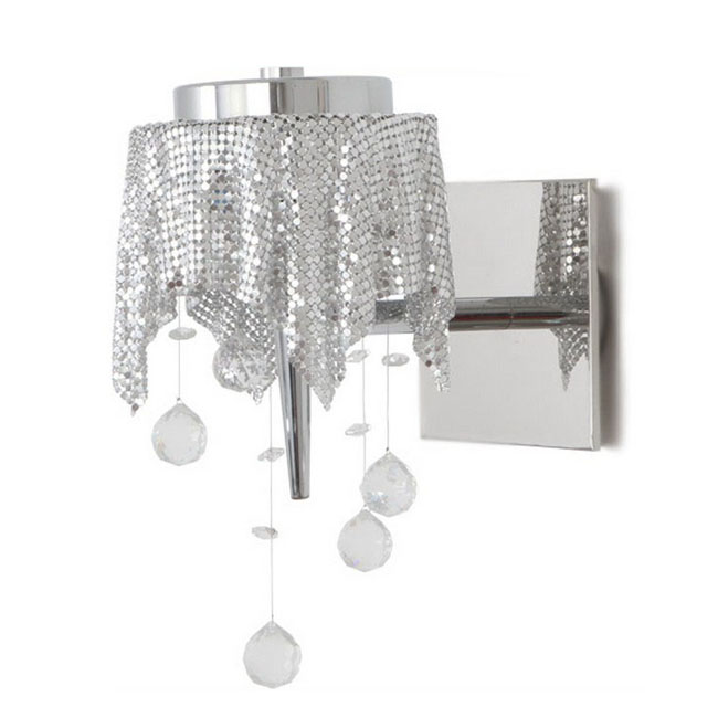 Modern Aluminium Fabric Wall Sconce 9409