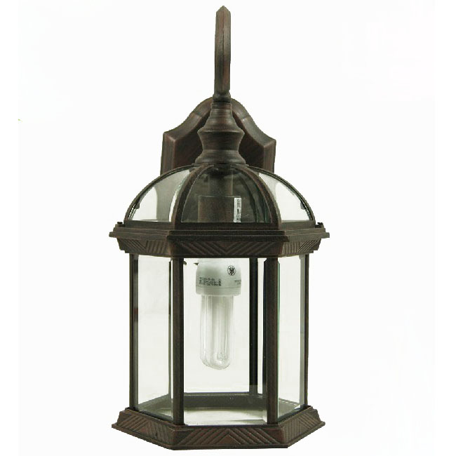 Antique Louis  Iron And Clear Glass Wall Sconce 9530