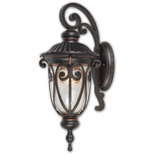 Antique Iron and Glass wall Sconce 9534
