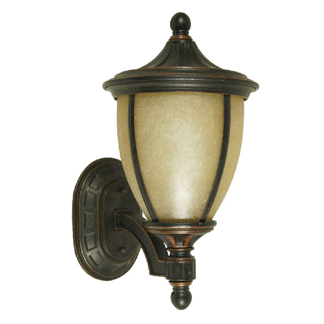 Antique 7911 Iron and Marble Glass Wall Sconce 9536