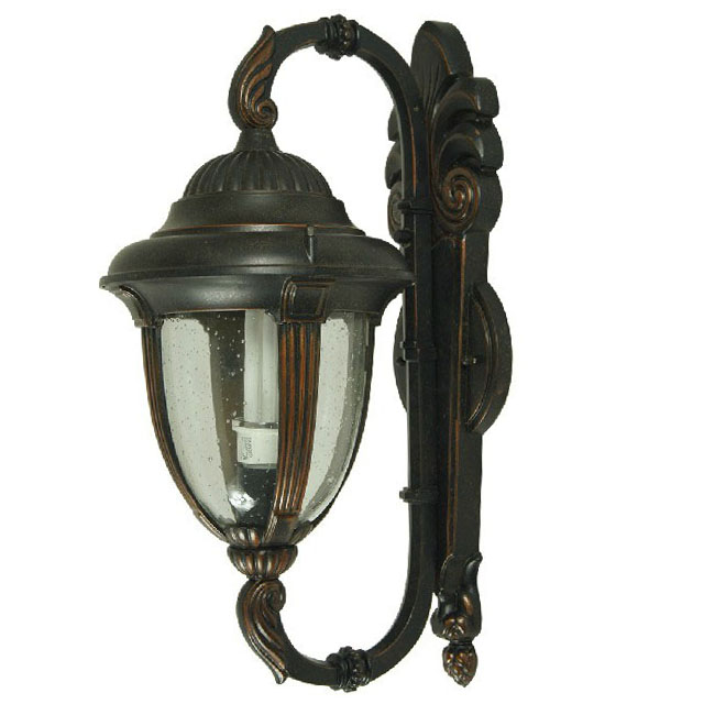 Antique  Metal And Glass WalL Sconce and Lamp  9540