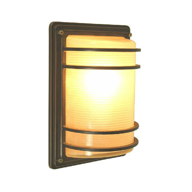 Outdoor Water Proofed Marble Glass Wall Sconce Size:see Sketch