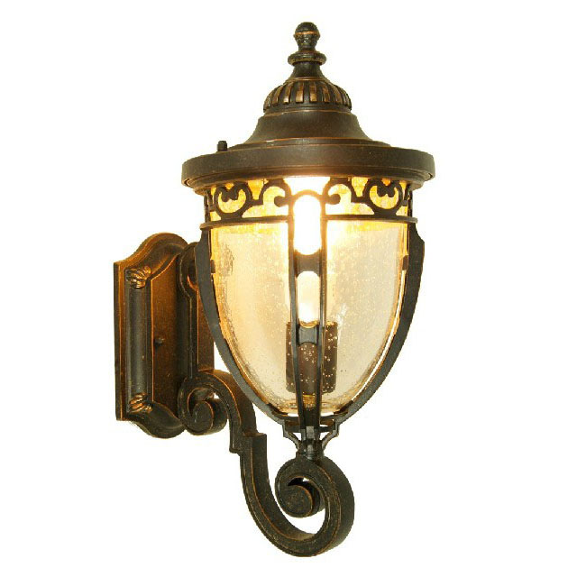 Antique Iron and Water Glass Wall Sconce 9563