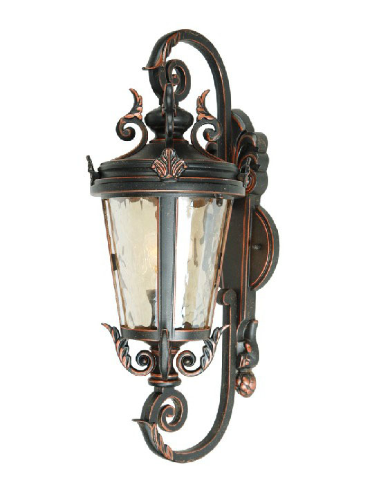 Antique 0584 Metal and Water Glass Outside Wall Sconce 9577