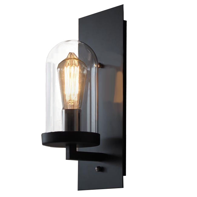 LOFT Industrial Clear Glass Iron Wall Sconce 10358