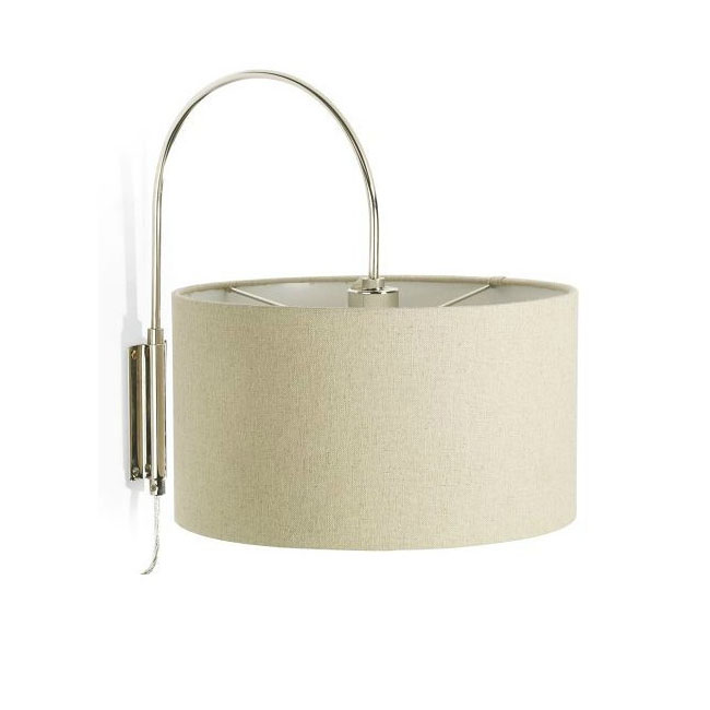 North Fabric Shade Wall Sconce in Chrome Finish 10602
