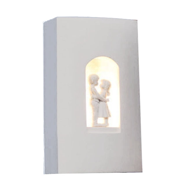 Modern Sweet Love Carved Plaster Wall Sconce 10661