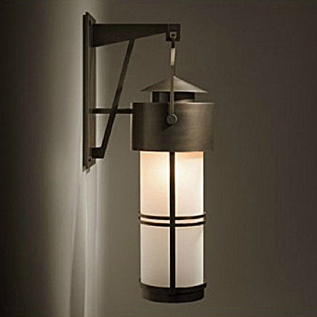 Antique Matte Glass Shade and Iron Art Wall Sconce 10744