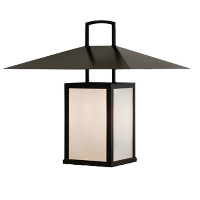 Antique Metal and Glass Shade Outdoor Wall Sconce 10745