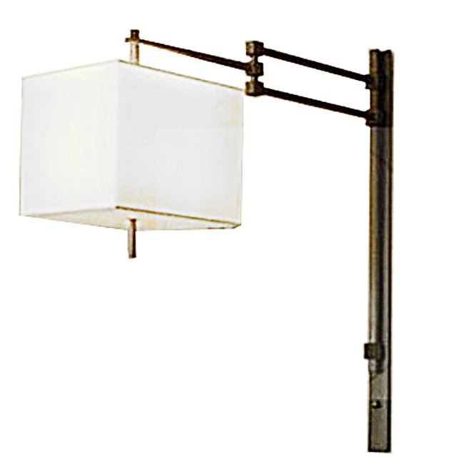 LOFT Adjustable Arm and Flax Shade Wall Sconce 10856