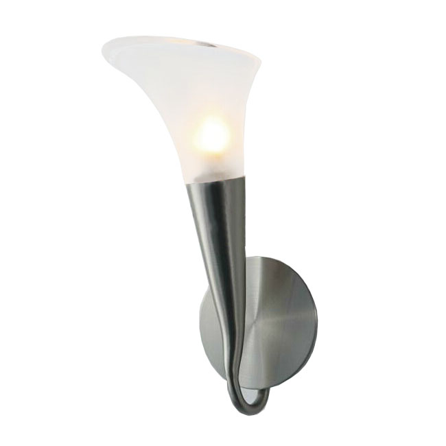 FIAM Glass Lily Shape Wall Sconce in Chrome Finish 8015