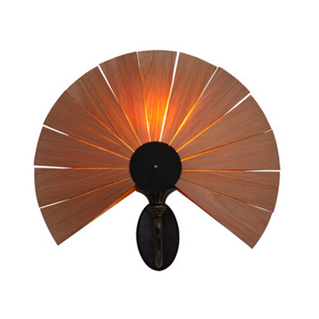 Modern Wooden Fan Wall Sconce and lights 9210