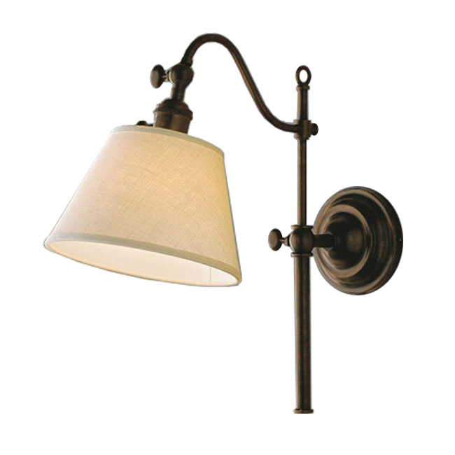 Antique Iron Art and Fabric Wall Sconce in Rusted Finish 9889