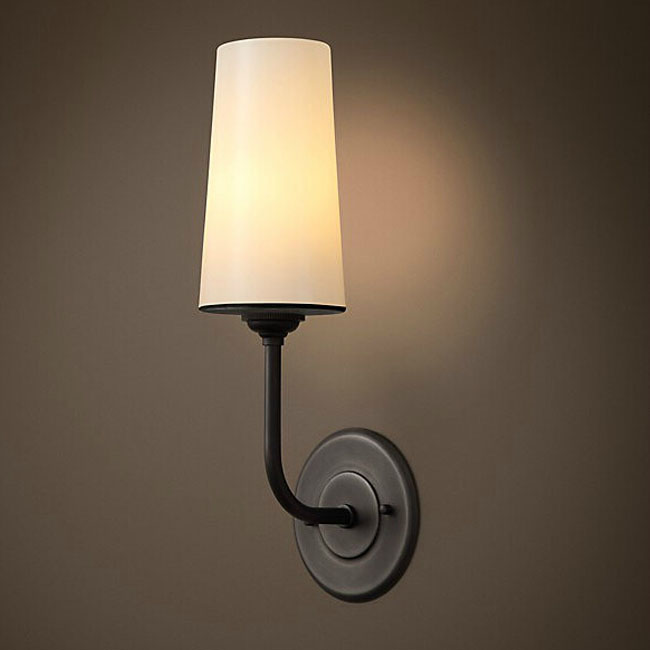 North Fabric Shade and Iron Wall Sconce 11013