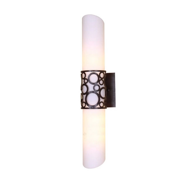 Modern Carved Metal And Glass Cylinder Wall Sconce 11240