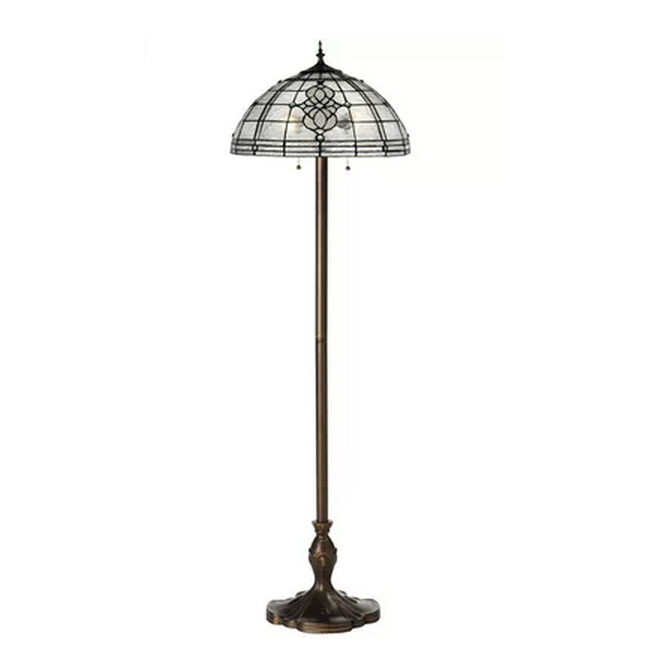 "Fantiny Handmade Glass and Metal Floor Lamp size: D18.11"" x H62"