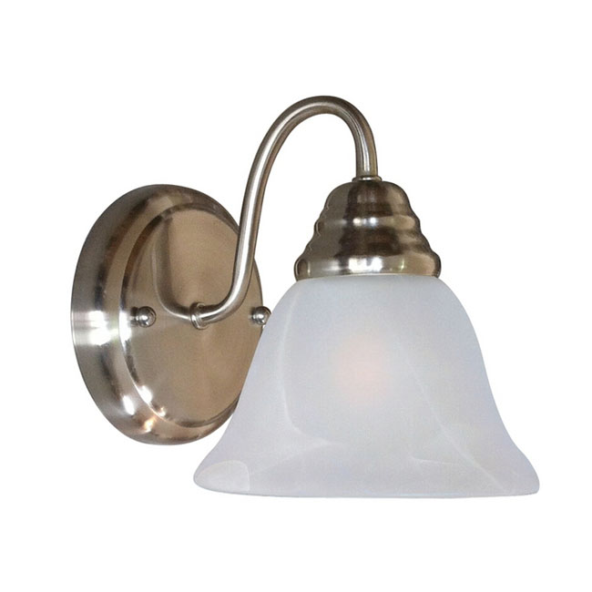 PHX Modern Marble Shade Wall Sconce in Brushed Finish 11429