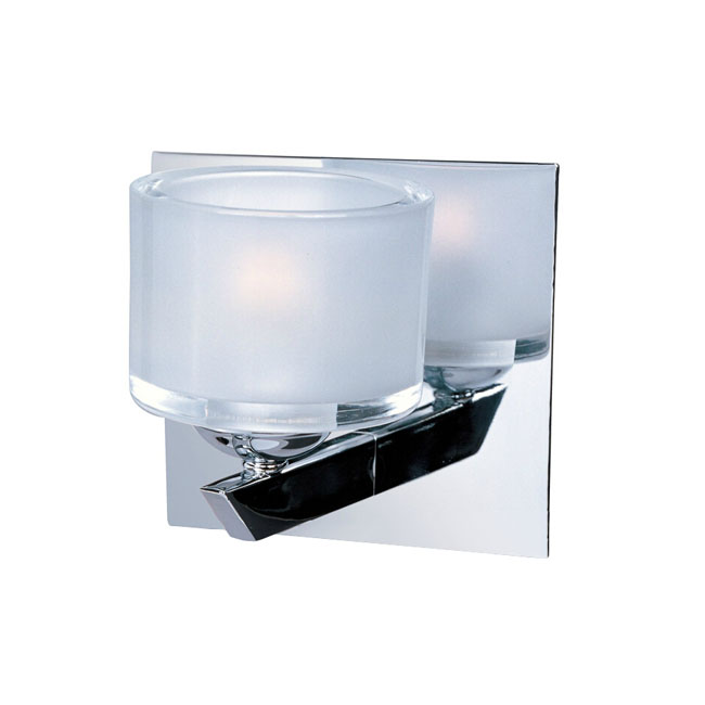 Modern Matte Crystal Shade Wall Sconce in Chrome Finish 11438