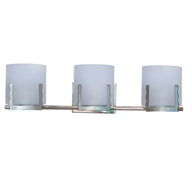 Modern 3 Depolished Strip Glass Shades Wall Sconce 11439