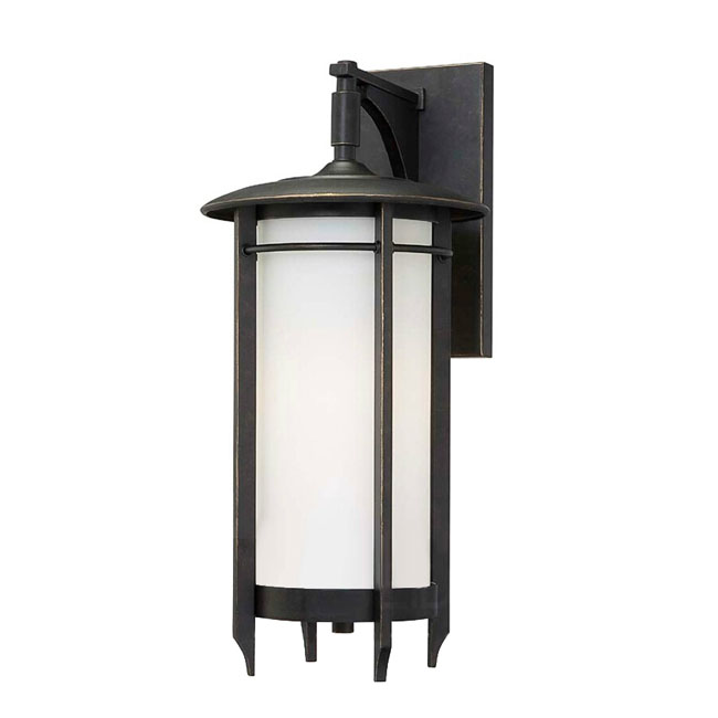 Country Iron and White Glass Shade Wall Sconce 11441