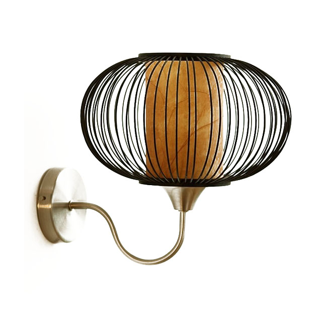 Modern Bamboo Grid Shade Wall Sconce 11600