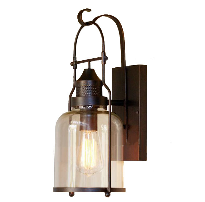Antique PHX Iron and Clear Glass Wall Sconce 11805