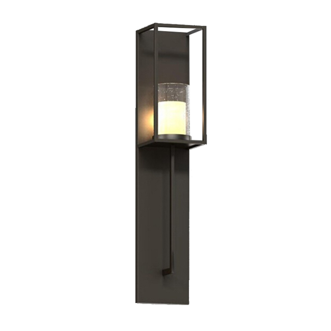 Barlow Country Iron and Marble Shade Wall Sconce 12191