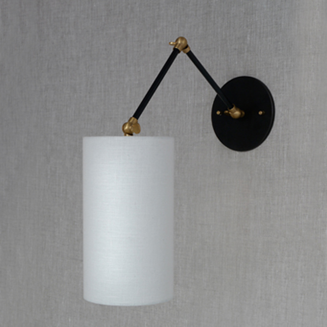 lbow Sconce with Cylinder Shade 15997