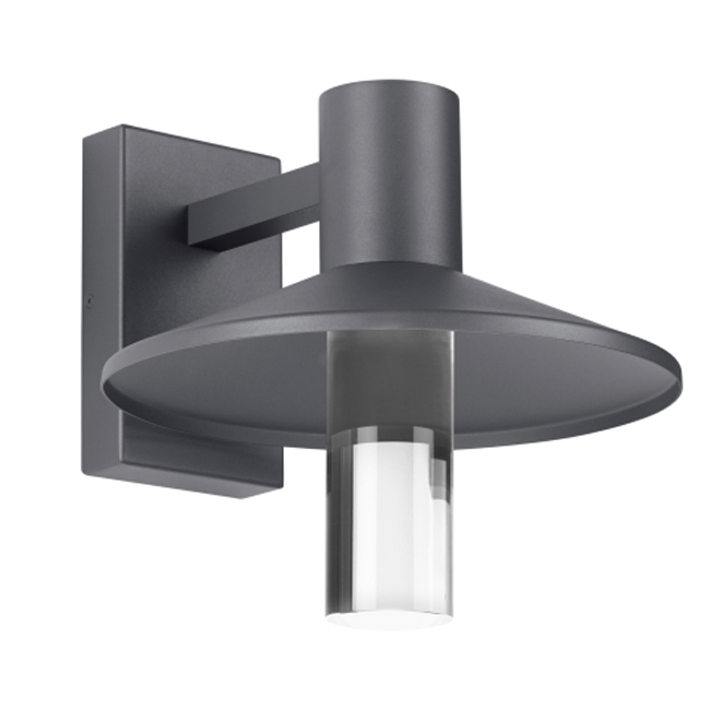 Ash Outdoor Clear Cylinder Wall Sconce 16030