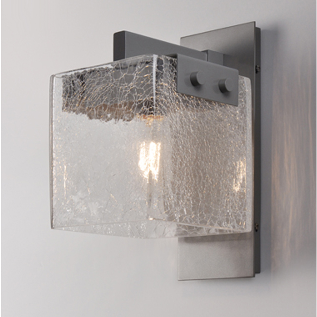 CAMBRIDGE Clear Crackled Glass Wall Sconce 17040